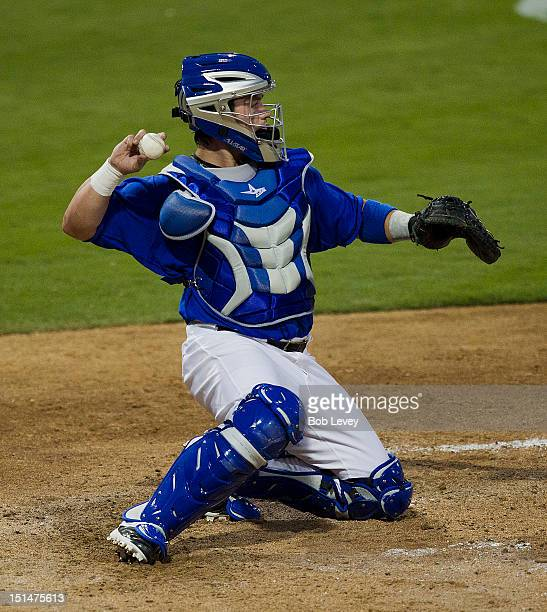 Koby Clemens of the Sugar Land Skeeters in action against the Long Island Ducks on September 7 2012 in Sugar Land Texas