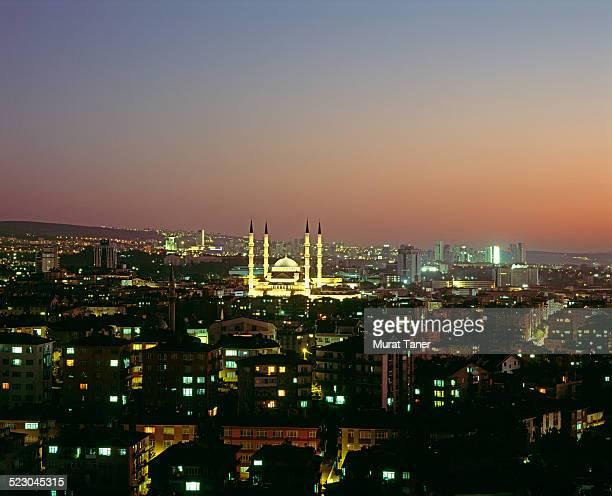 Kocatepe Mosque and Ankara skyline
