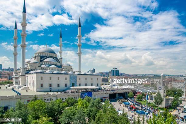 kocatepe mosque, ankara - ankara turkey stock pictures, royalty-free photos & images