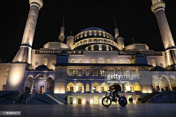 Kocatepe Mosque during Mawlid alNabi in Ankara Turkey on November 08 2019