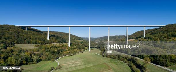 Kochertalbruecke, Kocher-Viadukt, Autobahnbrücke - höchste Viadukt in Deutschland