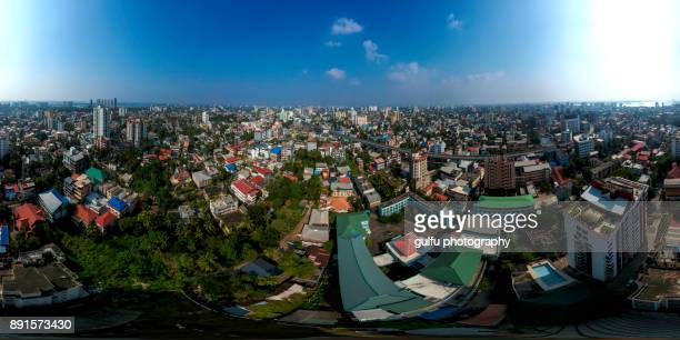 kochi city 360 aerial view - kochi india stock pictures, royalty-free photos & images