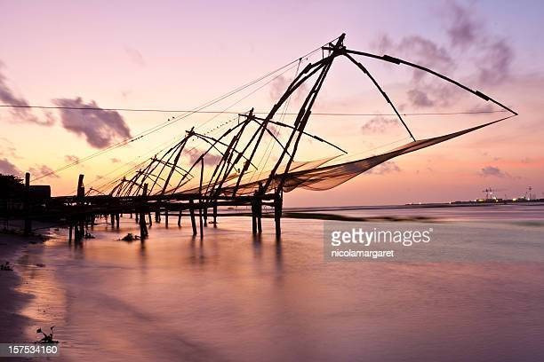 Kochi, India. Chinese fishing nets