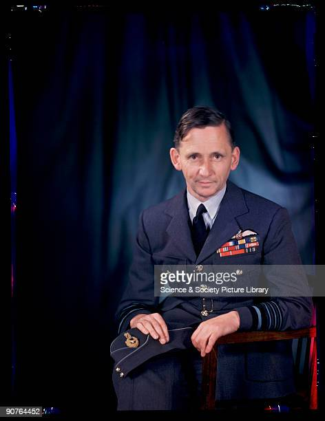 Kodachrome colour photograph of Air Chief Marshal Arthur William Tedder taken by JCA Redhead during World War Two Tedder had joined the Royal Flying...