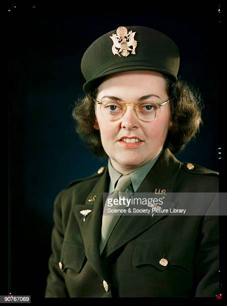 Kodachrome colour photograph of Lieutenant Doyle of the United States Army taken by JCA Redhead during World War Two This photograph is a Kodachrome...