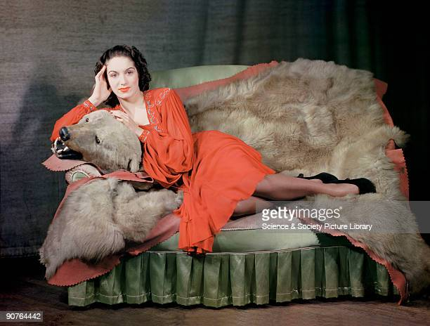 Kodachrome colour photograph of Pat Kirkwood taken by J C A Redhead during World War Two A popular singer and actress Pat Kirkwood is photographed in...