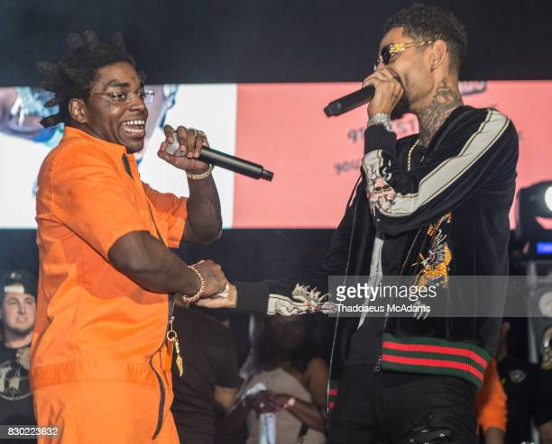 Kodak Black and PnB Rock perform at University of Miami on August 10 2017 in Miami Florida