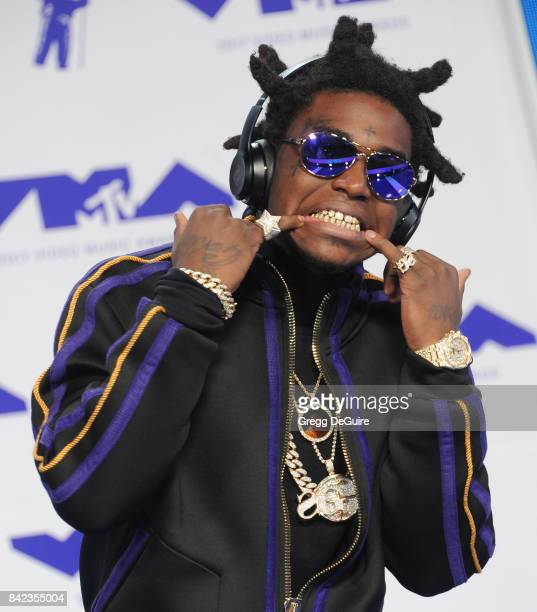 Kodak Black arrives at the 2017 MTV Video Music Awards at The Forum on August 27 2017 in Inglewood California