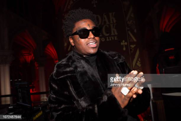 Kodak Black attends the Kodak Black Dying To Live Album Listening Party at Harlem Parish on December 12 2018 in New York City