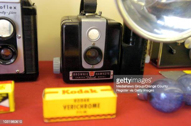 Kodak Brownie Hawkeye is part of a timeline of old cameras at Tuttle Camera in Long Beach Calif on May 18 2006