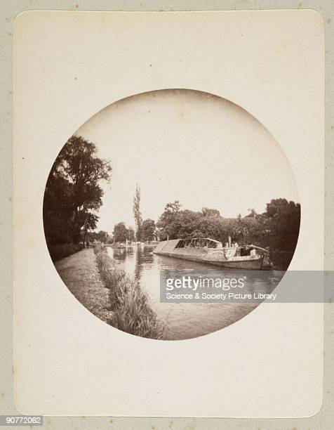 Kodak circular snapshot photograph of a canal narrow boat taken by an unknown photographer in 1888 The origins of popular photography can be traced...