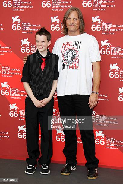"""Kodi Smit-McPhee and Viggo Mortensen attend """"The Road"""" photocall at the Palazzo del Casino during the 66th Venice Film Festival on September 3, 2009..."""