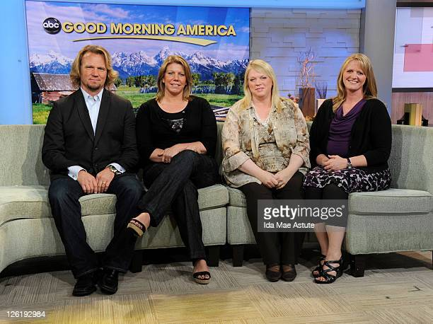 AMERICA Kody Brown joined by three of his four wives Meri Janelle and Christine talks about their show 'Sister Wives' on GOOD MORNING AMERICA 9/21/11...