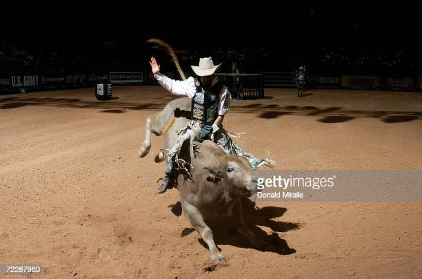 Kody Lostroh of the US rides ''Shane'' during the Professional Bull Riders World Finals on October 27 2006 at Mandalay Bay Hotel and Casino in Las...