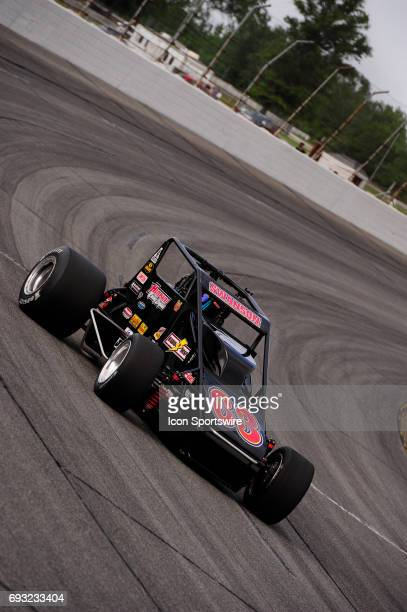 Kody Swanson DePalma Motorsports makes a lap in time trials for the Carb Night Classic United States Auto Club Silver Crown Champ Car Series 100lap...