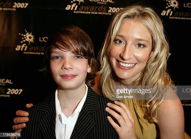 KodySmitMcPhee and Sybilla Budd attend the L'Oreal Paris 2007 AFI Awards Nominations Announcement at the Sydney Theatre on October 24 2007 in Sydney...