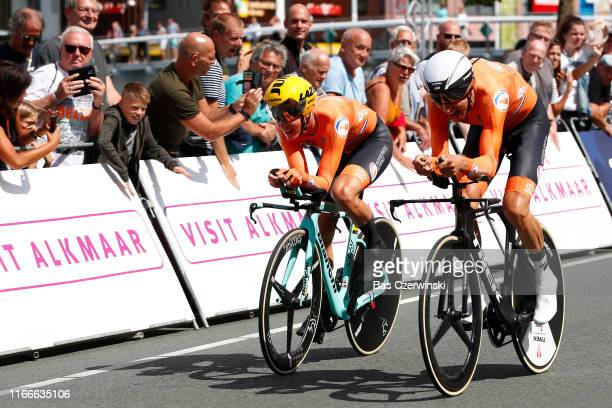 Koen Bouwman of Netherlands / Bauke Mollema of Netherlands / during the 25th UEC Road European Championships 2019 - Mix Relay a 44,8km Team Time...