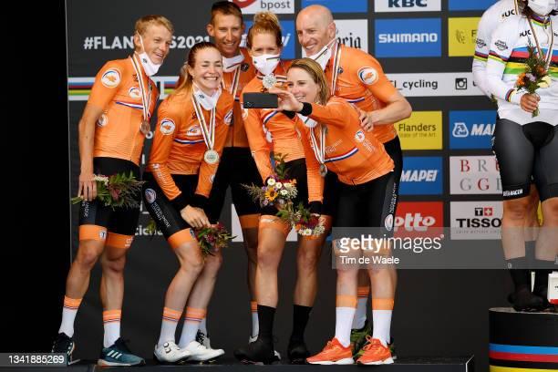 Koen Bouwman of Netherlands, Riejanne Markus of Netherlands, Bauke Mollema of Netherlands, Ellen Van Dijk of Netherlands, Jos Van Emden of...