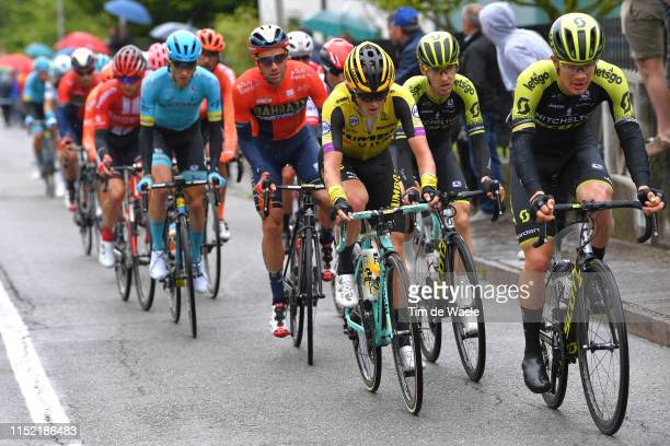 Koen Bouwman of The Netherlands and Team Jumbo - Visma / Mikel Nieve of Spain and Team Mitchelton - Scott / Christopher Juul Jensen of Denmark and...
