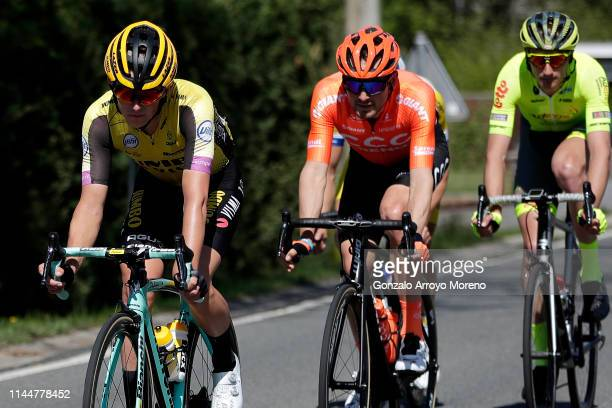 Koen Bouwman of The Netherlands and Team Jumbo-Visma / Joey Rosskopf of The United States and CCC Team / during the 83rd La Fleche Wallonne 2019 a...