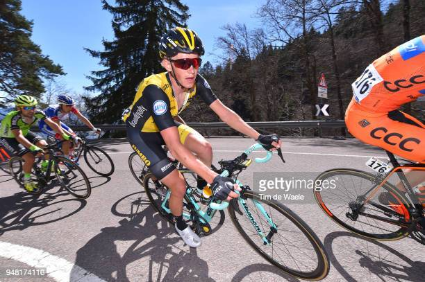 Koen Bouwman of The Netherlands and Team LottoNL - Jumbo / during the 42nd Tour of the Alps 2018, Stage 3 a 138,3km stage from Ora-Auer to Merano on...