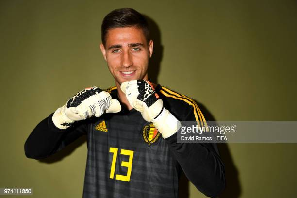 Koen Casteels of Belgium poses during the official FIFA World Cup 2018 portrait session at the Moscow Country Club on June 14 2018 in Moscow Russia