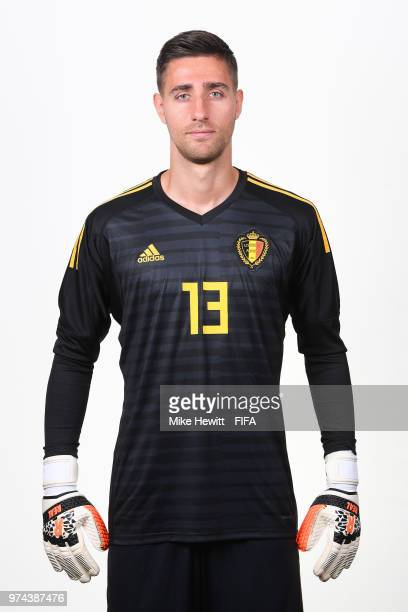 Koen Casteels of Belgium poses for a portrait during the official FIFA World Cup 2018 portrait session at the Moscow Country Club on June 14 2018 in...