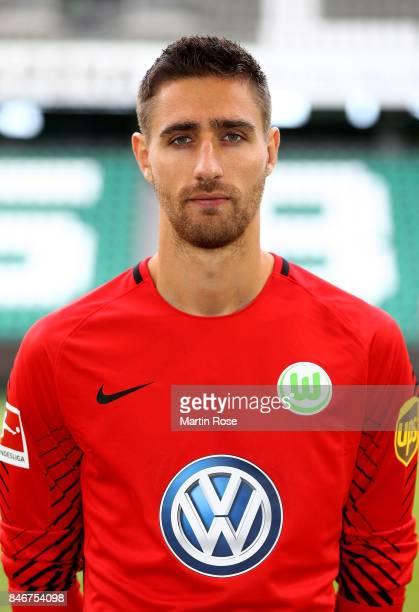 Koen Casteels of VfL Wolfsburg poses during the team presentation at on September 13 2017 in Wolfsburg Germany