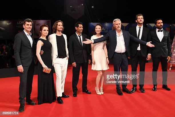 Koen De Bouw Miriam Dalmazio Dario Aita Hichem Yacoubi Qi Xi Cristiano Bortone Michael Schermi and guest of the cast of 'Caffe' attends the premiere...