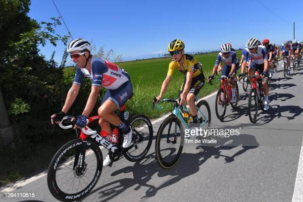 Koen De Kort of Netherlands and Team Trek - Segafredo / Antwan Tolhoek of Netherlands and Team Jumbo - Visma / during the 101st Milano - Torino 2020...