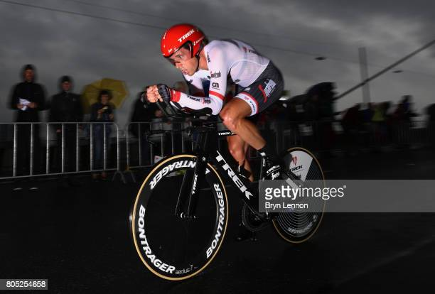 Koen De Kort of Netherlands and TrekSegafredo competes during stage one of Le Tour de France 2017 a 14km individual time trial on July 1 2017 in...