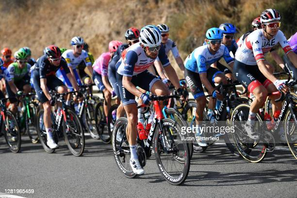 Koen De Kort of The Netherlands and Team Trek - Segafredo / Davide Formolo of Italy and UAE Team Emirates / during the 75th Tour of Spain 2020, Stage...