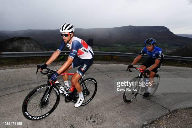Koen De Kort of The Netherlands and Team Trek - Segafredo / Michael Valgren Andersen of Denmark and NTT Pro Cycling Team / during the 75th Tour of...