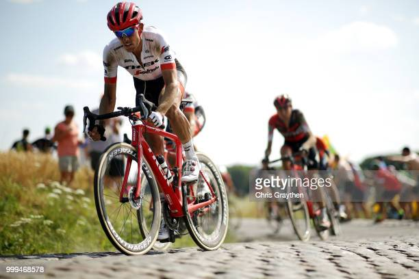 Koen De Kort of The Netherlands and Team Trek Segafredo / Willems A Hem Sector 1 / Cobbles / Pave / during the 105th Tour de France 2018 Stage 9 a...