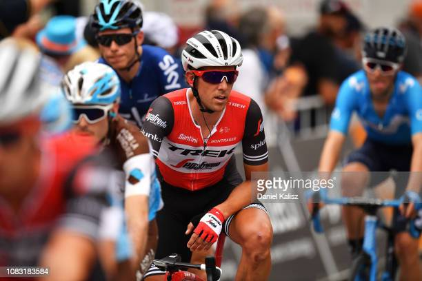Koen de Kort of The Netherlands and Team TrekSegafredo crosses the finishg line during stage two of the 2019 Tour Down Under on January 16 2019 in...
