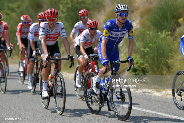 Koen de Kort of The Netherlands and Team TrekSegafredo / Dries Devenyns of Belgium and Team Deceuninck QuickStep / during the 106th Tour de France...