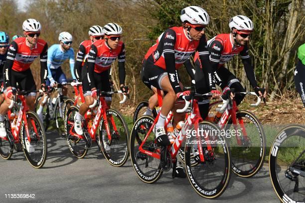 Koen De Kort of The Netherlands and Team Trek-Segafredo / Julien Bernard of France and Team Trek-Segafredo / during the 77th Paris - Nice 2019, Stage...