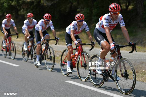 Koen de Kort of The Netherlands and Team TrekSegafredo / Richie Porte of Australia and Team TrekSegafredo / during the 106th Tour de France 2019...