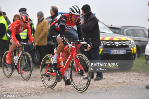 Koen de Kort of The Netherlands and TrekSegafredo / Cobblestones / Fans / Public / during the 117th ParisRoubaix a 257km race from Compiègne to...