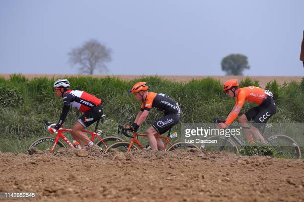 Koen de Kort of The Netherlands and TrekSegafredo / Justin Timmermans of The Netherlands and Team RoompotCharles / Nathan Van Hooydonck of Belgium...