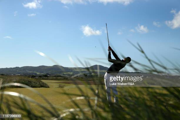 Koen Kouwenaar of the Netherlands in action during day five of the RA Amateur Championship at Portmarnock Golf Club on June 21 2019 in Portmarnock...