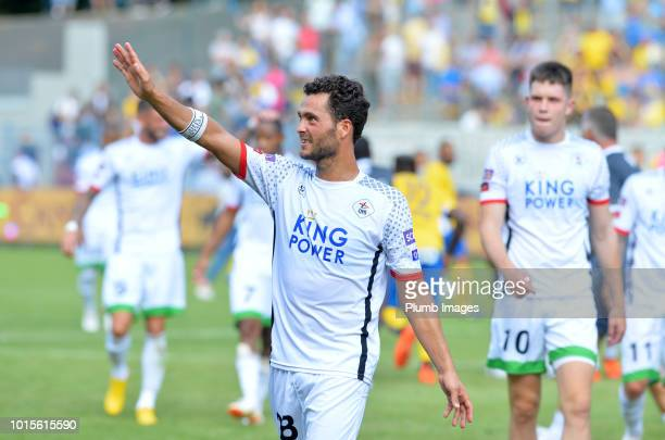 Koen Persoons of OH Leuven acknowledges the travelling fans after the Proximus League match between Royal Union SaintGilloise and OH Leuven at Stade...