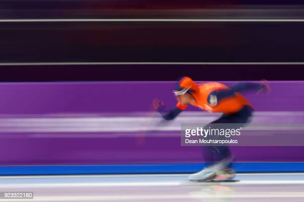 Koen Verweij of the Netherlands competes during the Speed Skating Men's 1000m on day 14 of the PyeongChang 2018 Winter Olympic Games at Gangneung...