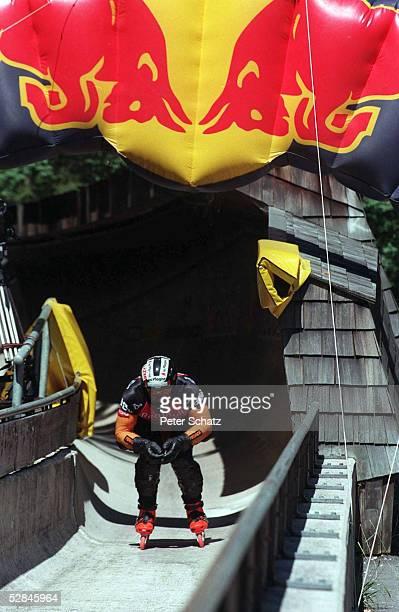 Koenigssee BOB RUN SPEEDSKATING Weltmeisterschaft der besonderen Art Im August 1998 fand das schnellste Inline Skating Downhill Rennen der Welt statt...