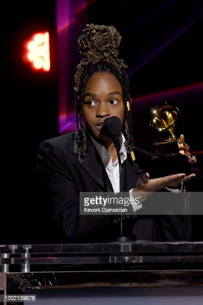 Koffee accepts the Best Reggae Album award for 'Rapture' onstage during the 62nd Annual GRAMMY Awards Premiere Ceremony at Microsoft Theater on...