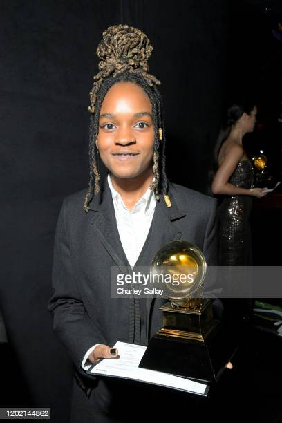 Koffee accepts the Best Reggae Album award for Rapture onstage during the 62nd Annual GRAMMY Awards Premiere Ceremony at Microsoft Theater on January...