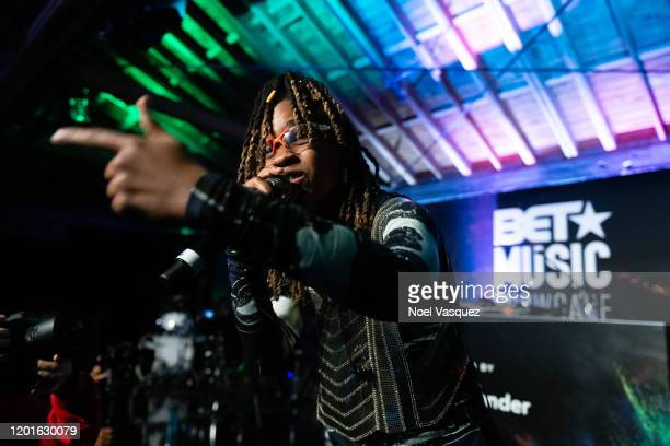 Koffee performs at the BET Music Showcase at City Market Social House on January 23 2020 in Los Angeles California