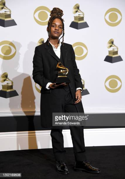Koffee winner of Best Reggae Album for Rapture poses in the press room during the 62nd Annual GRAMMY Awards at Staples Center on January 26 2020 in...