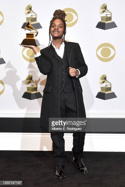 Koffee winner of Best Reggae Album poses in the press room during the 62nd Annual GRAMMY Awards at STAPLES Center on January 26 2020 in Los Angeles...
