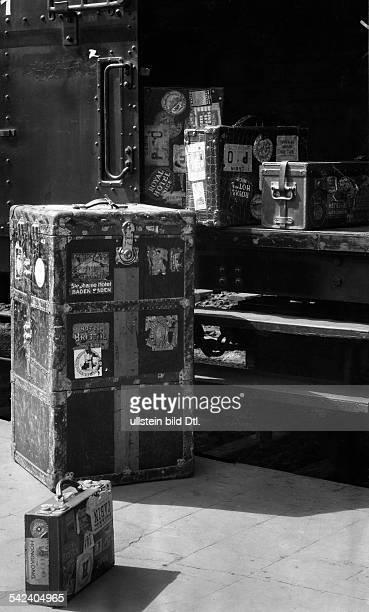 Koffer am Gepäckwagen eines FDZugesum 1930